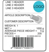 AF02 Sample Label For Quantity Counting Systems