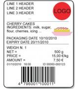 AF05 Software For Indicators For Industrial Price Computing Sample Label
