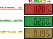 DFWLID Stainless Steel Weight Indicator Tolerance