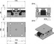 KDSBN Assembly Kit Dimensions