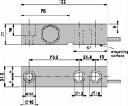 SBK-1KL 1000 Ohm Load Cell Dimensions