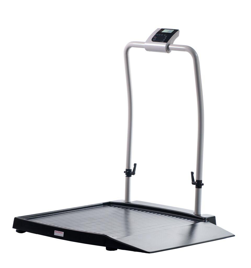 Wheel Chair Scale shekel h351-2 class iii wheelchair scale with ramp & handrail