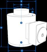 WNI Wireless Compression Load Cells Dimensions