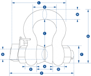 Wireless Load Shackle Dimensions