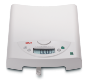 Once the detachable weighing tray is removed the Seca 385 transforms from a baby scale to a stand on scale for weighing children up to 50kg.