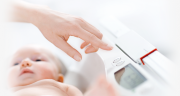 The Seca 376 portable digital baby weighing scales