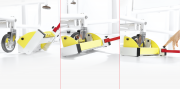 The Seca 985 Patented lift mechanism permits placement of the load cells without any effort.