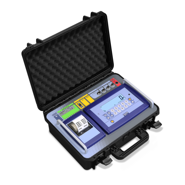 Dini Argeo DFWKRP Weight Indicator for Vehicle and Axle Weighing Supplied in Transport Case with Thermal Printer.