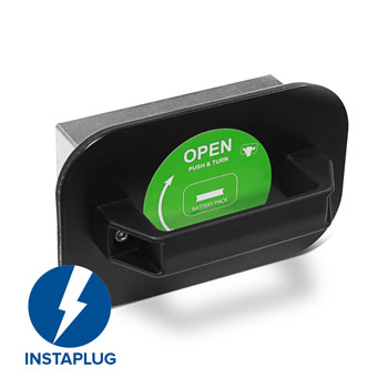 Change the battery in seconds with Dini Argeos Instaplug charging system