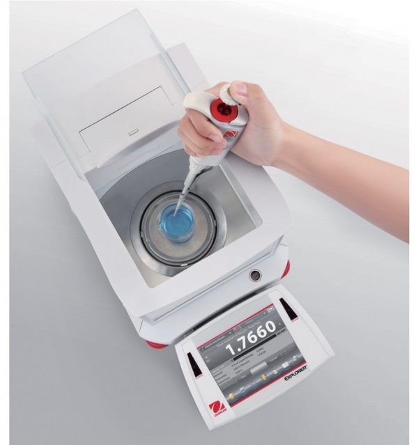 Ohaus Explorer Analytical Balance Top View