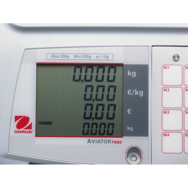 Ohaus Aviator 7000 Display