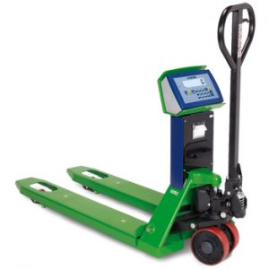TPWA pallet truck scales with new DFW series 17 keys weight indicator