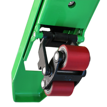 TPWA pallet truck scales with closed Forks underside, for a higher protection against dirt.