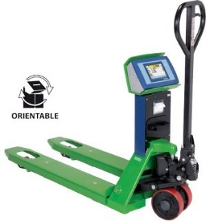 TPWET Pallet truck scales with Enterprise series touch screen weight indicator