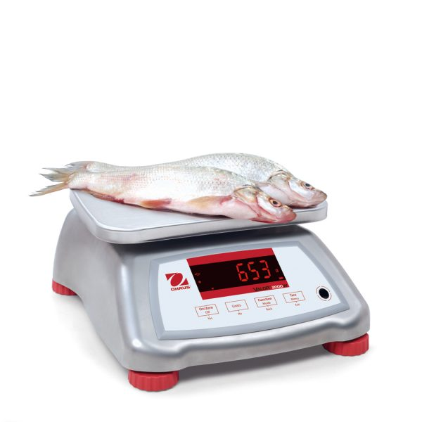 The stainless steel version of the Ohaus Valor 2000 is ideal for food processing and manufature.