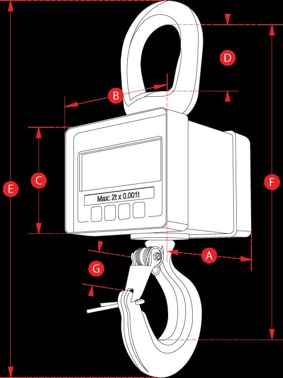 Mini Weigher Crane Scale Dimensions