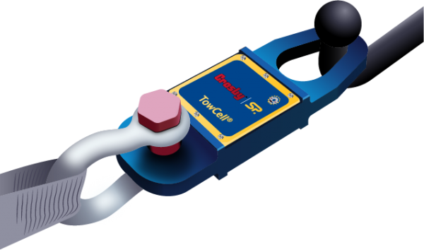 Crosby Straightpoint Towcell - Wireless tow bar load cell