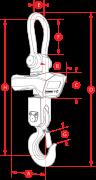 Jumbo Weigher 20ton Capacity Crane Scale Dimensions