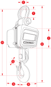Jumbo Weigher 5ton & 10ton Capacity Crane Scale Dimensions