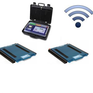Set Of 2 WWSCRF Wireless Weigh Pads With DFWKRPRF Portable Weight Indicator
