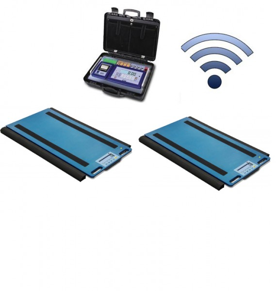 Set Of 2 WWSERF Wireless Weigh Pads With DFWKRPRF Portable Weight Indicator