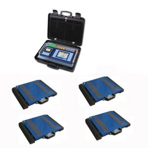 Set Of 4 WWSC Weigh Pads With 3590ETKR Touch Screen Weight Indicator
