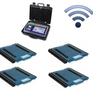 Set Of 4 WWSCRF Wireless Weigh Pads With DFWKRP Portable Weight Indicator