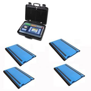 Set Of 4 WWSD Axle Weigh Pads With 3590ETKR Touch Screen Weight Indicator