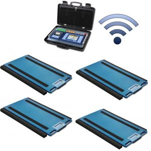 Set Of 4 WWSDRF Wireless Weigh Pads With 3590ETKR Touch Screen Weight Indicator
