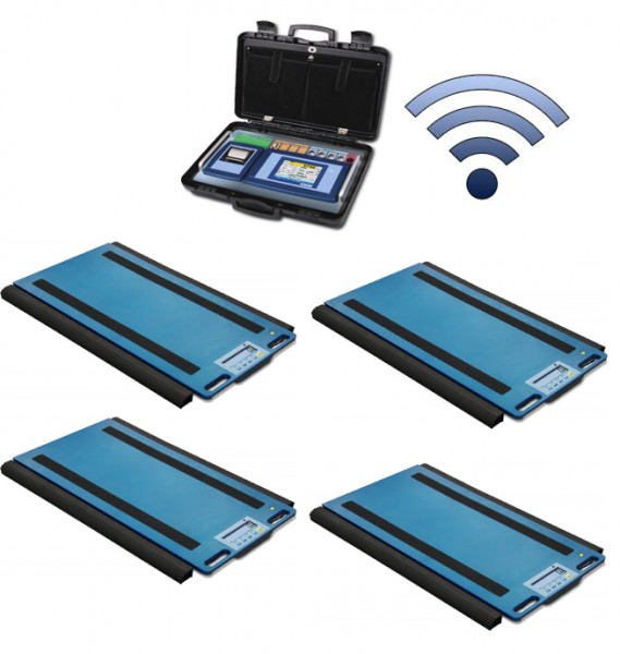 Set Of 4 WWSERF Wireless Weigh Pads With 3590ETKR Touch Screen Weight Indicator