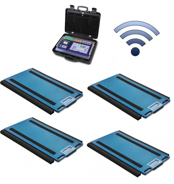 Set Of 4 WWSERF Wireless Weigh Pads With DFWKRPRF Portable Weight Indicator