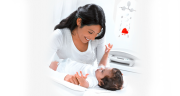 Safely weigh babies with Seca branded digital baby weighing scales