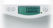 The Seca 376 has easy to use function buttons and LCD display