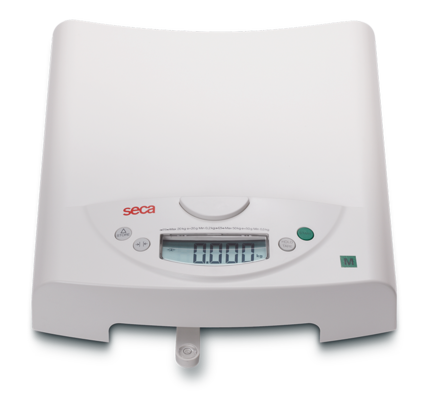 With the weighing tray removed, children up to 20kg can easily be weighed