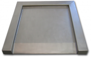 VWDIS Stainless Steel Floor Scales with Built-in Ramp