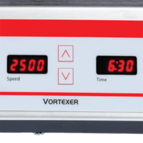 Digital model VXMTDG features touchpad control for easy input of settings, and independent LED displays for speed time.