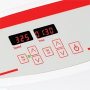 Touchpad controls with independent LEDs for speed time allow operator to view all settings at once