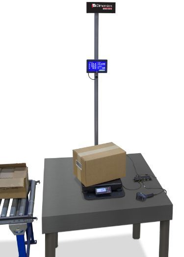 iDimension 100 with attached weighing scale