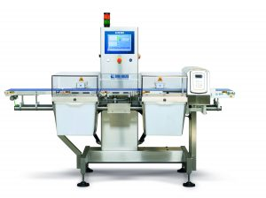 The DLWPRO-M dynamic inline checkweigher with intergrated Ceia metal detection system