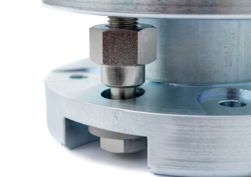 The 66-20 weigh module has been designed for use with the Q50 compression load cell. Constructed from plated alloy steel or supplied in all stainless steel.