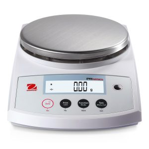 The Ohaus PR precision balance is equipped with 3 essential weighing modes