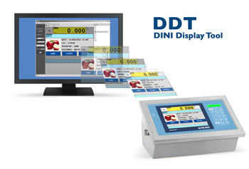 Dini Display Tools can be used to configure the screen