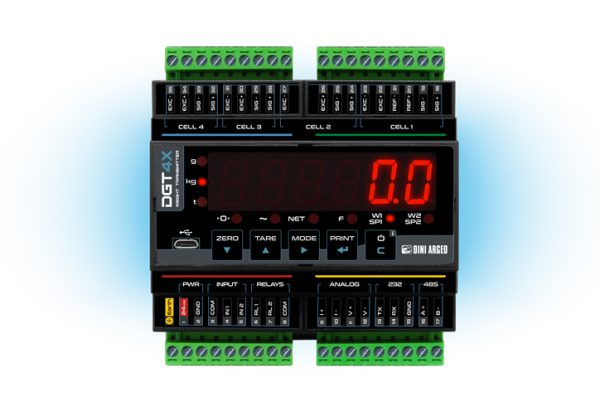 The new DGT4X Process Weighing Controller form Dini Argeo