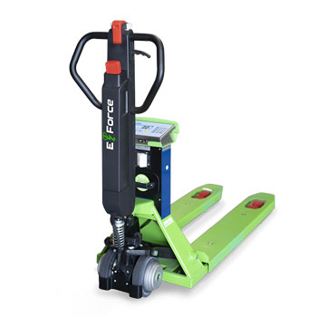 Innovative Pallet Truck scales with electric tiller