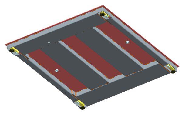 Ohaus DF52 Platform Scales Underside View
