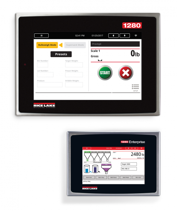 Rice Lake 1280 Enterprise Series with 7 Inch or 12 Inch Touch Screen Displays