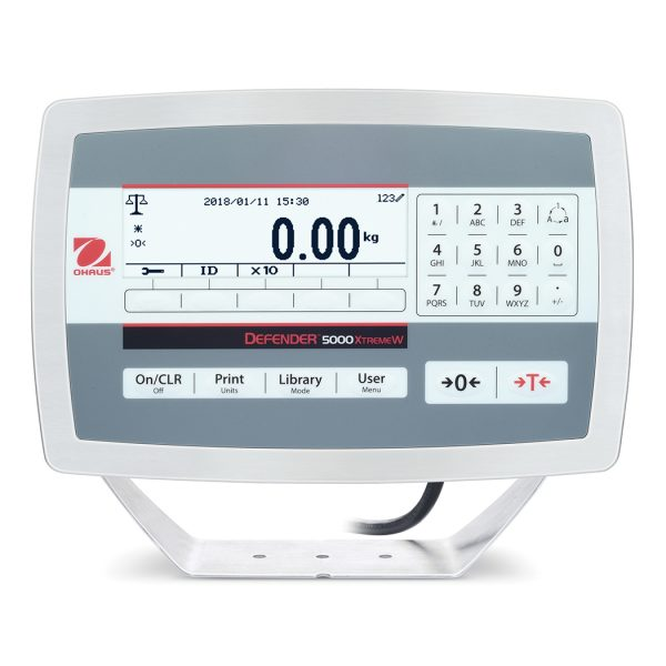 The Ohaus Defender 5000 Stainless Steel Digital Display Unit