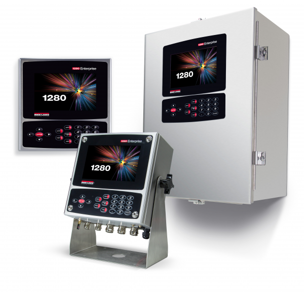 The Rice Lake 1280 Enterprise Series of Digital Process Controllers for Automated Weighing Applications