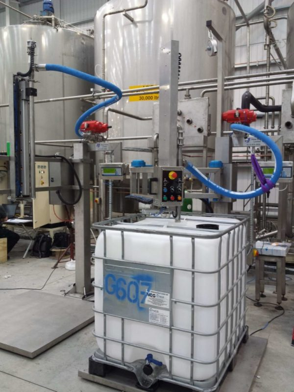 The FT-100 Automated Filling System for Chemicals, Construction, Household Liquid Products and Food & Drink