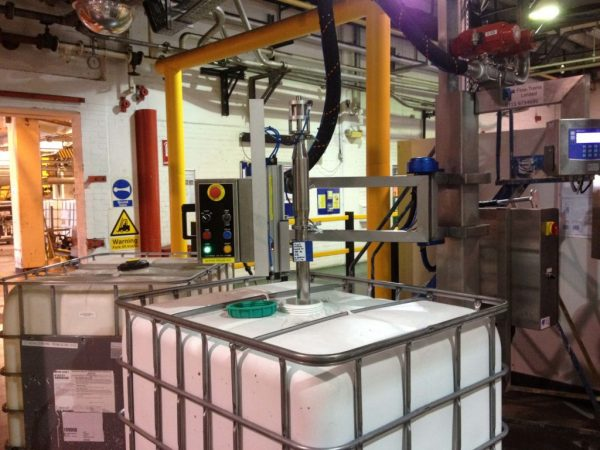 The FT-100 Filling IBC's for the Construction Industry